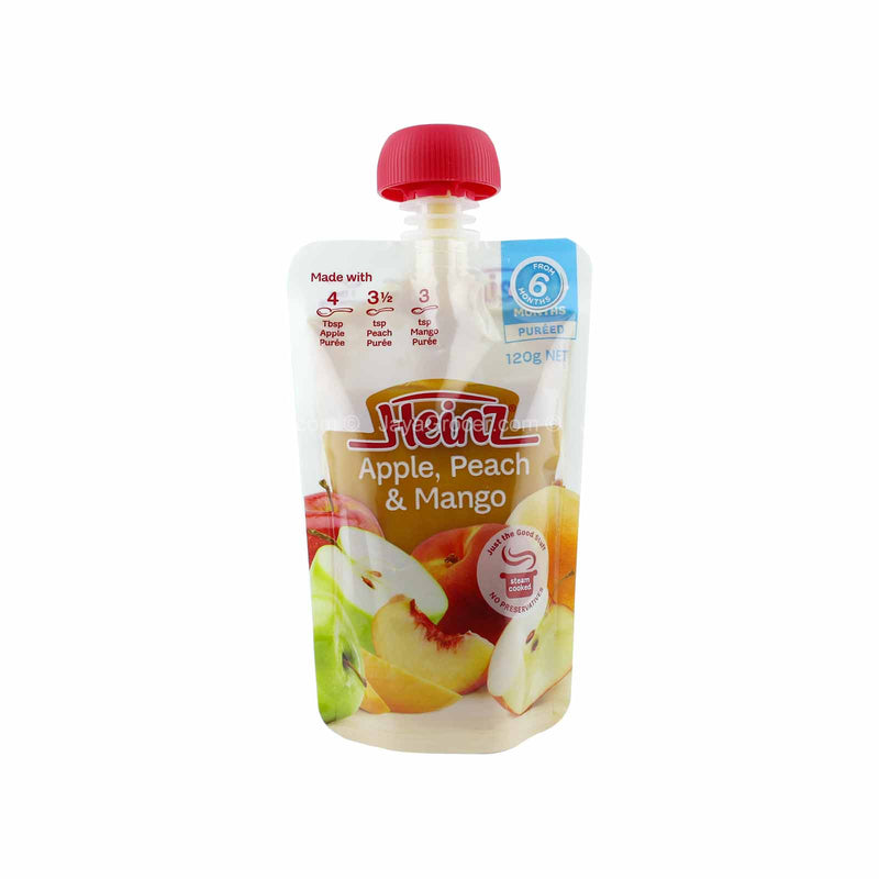 Heinz Apple, Peach & Mango Baby Puree 120g