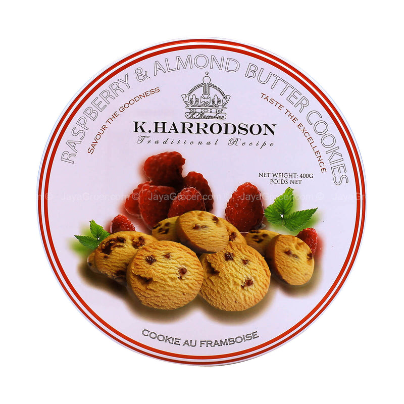 K. Harrodson Raspberry & Almond Butter Cookies 400g