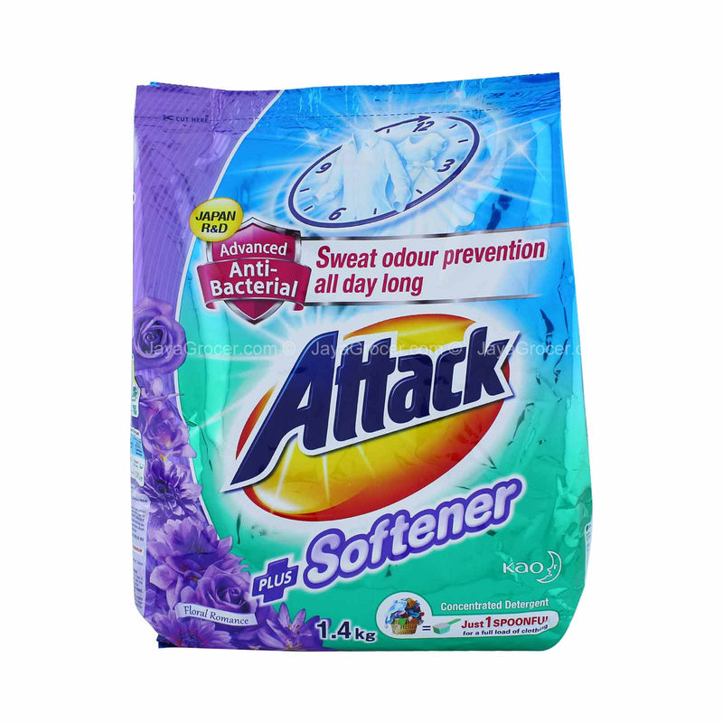 Attack Plus Softener Floral Romance Detergent Powder 1.4kg
