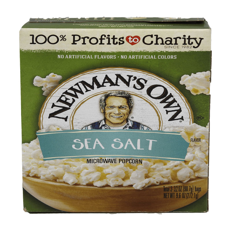 Newman's Own Sea Salt Flavoured Microwave Popcorn 272.1g