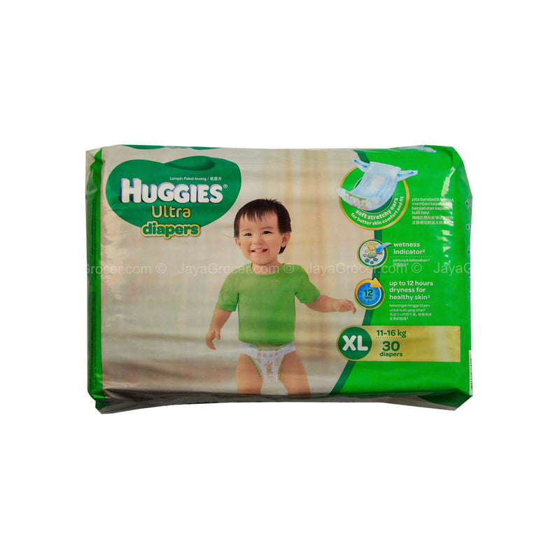 Huggies Ultra Diapers Size XL (For 11-16kg baby) 30pcs