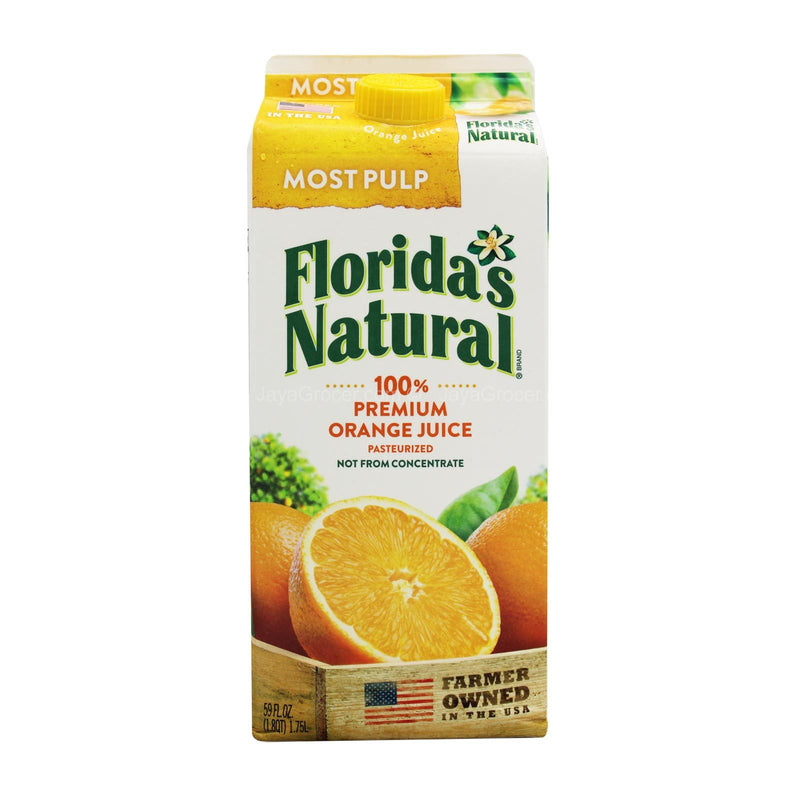 Florida's Natural 100% Premium Orange Juice with Most Pulp 1.75L