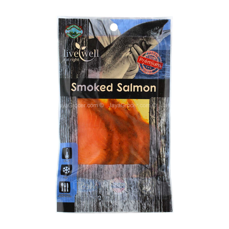 Live Well Smoked Salmon Bombay Marinated 100g