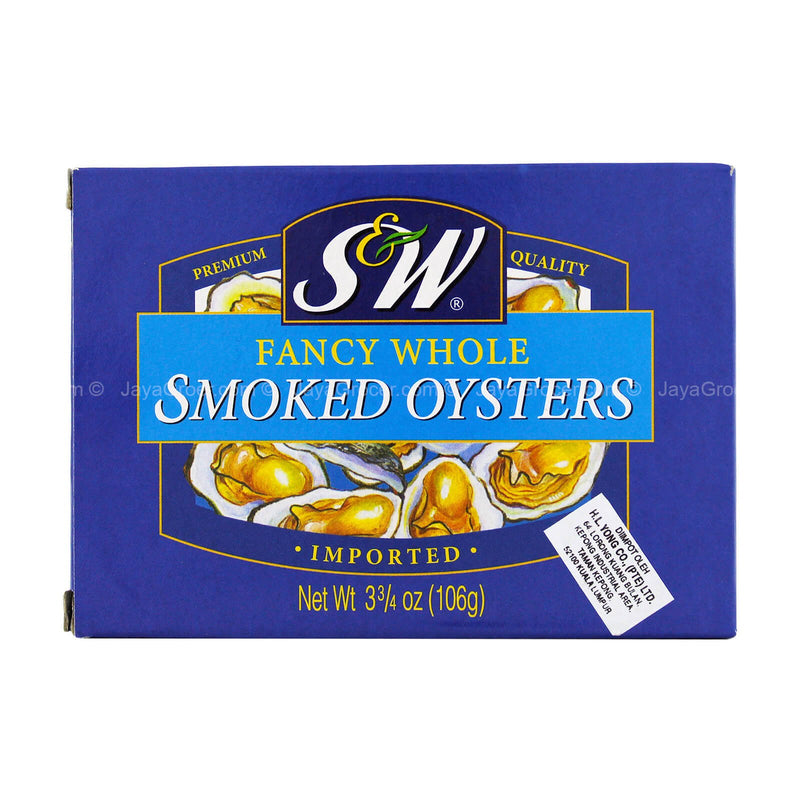 S&W Imported Fancy Whole Smoked Oysters 106g