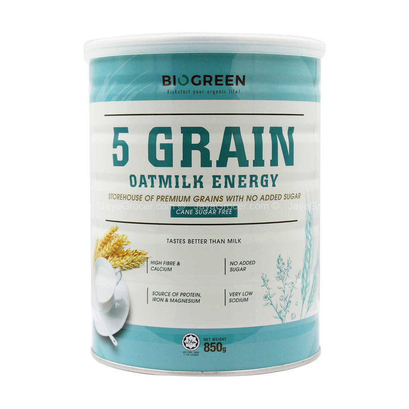 Biogreen 5 Grain Oatmilk Energy Drink Mix (Cane Sugar Fee) 850g