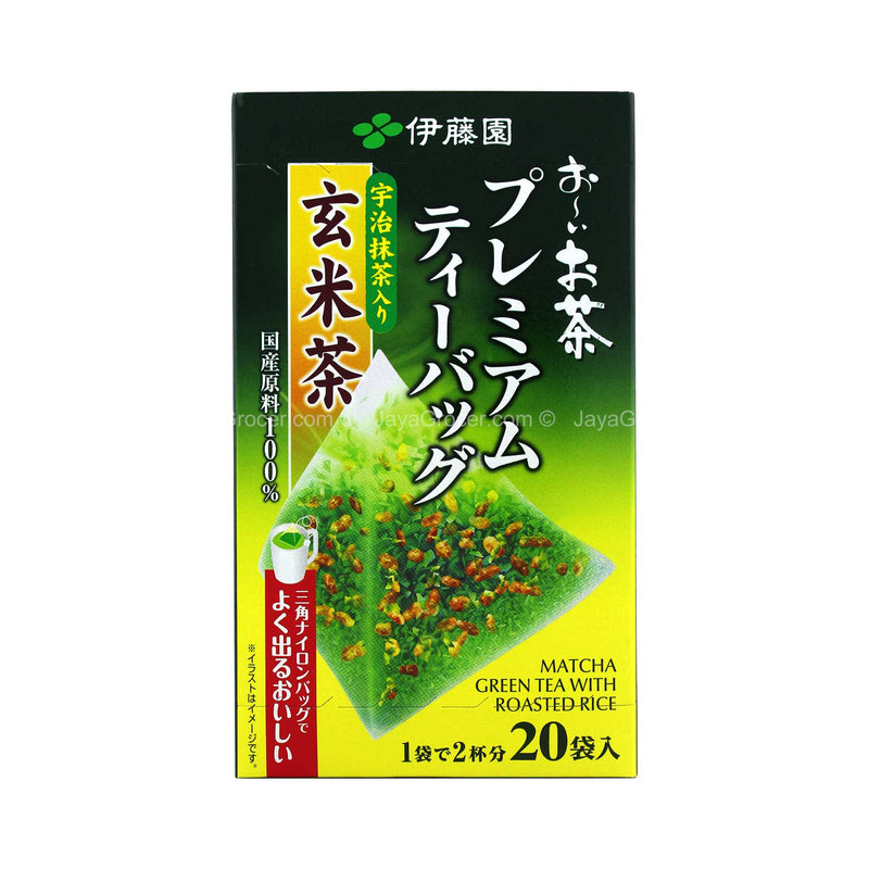 Itoen Premium Matcha Green Tea with Roasted Rice 2.3g x 20