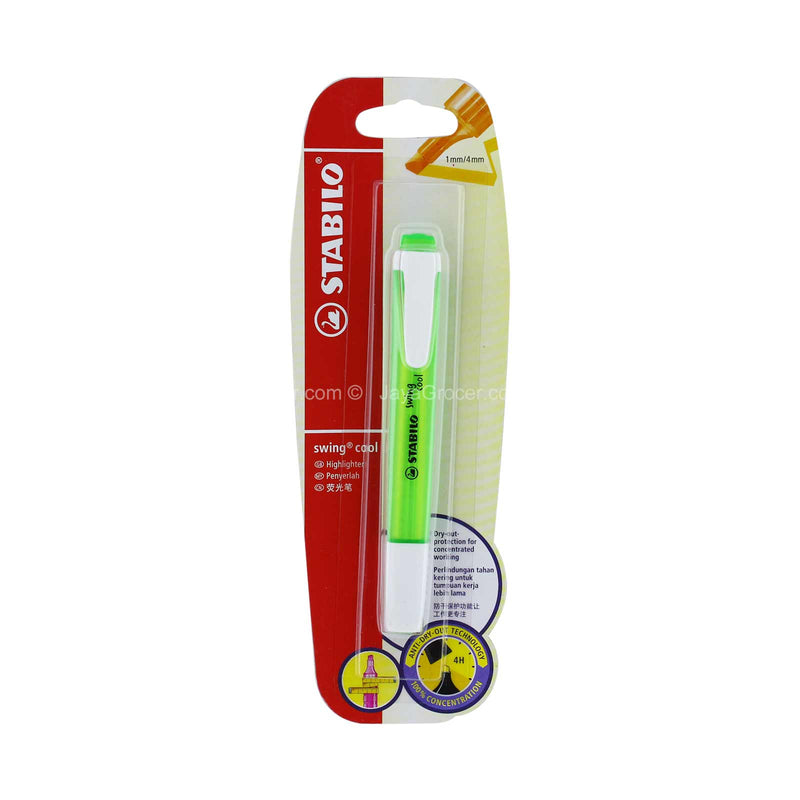 Stabilo Swing Cool Green Highlighter 1mm/4mm 1piece