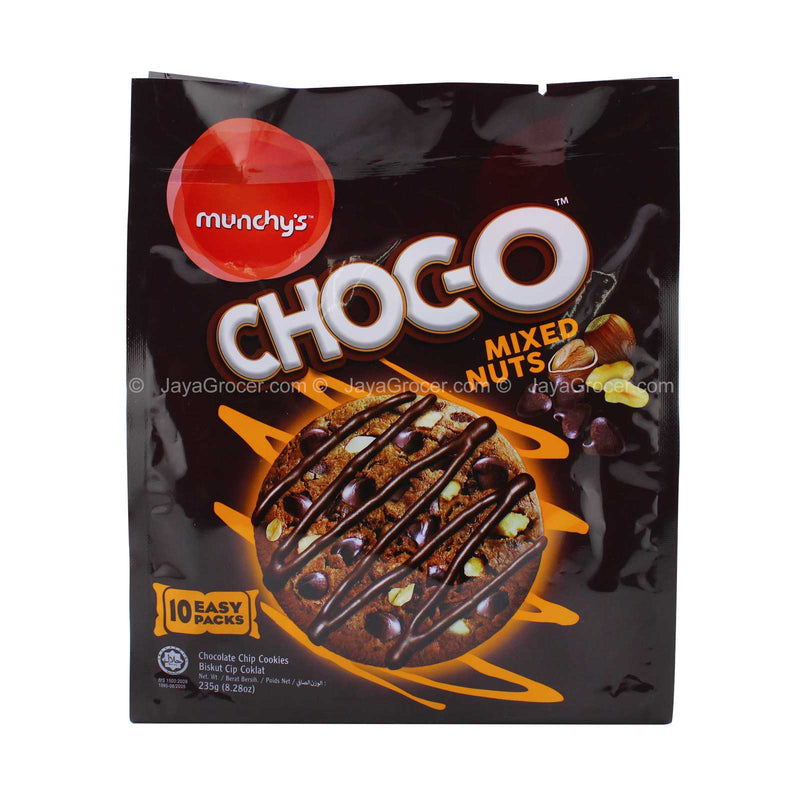 Munchy's Choc-O Mixed Nuts Chocolate Chip Cookies 235g