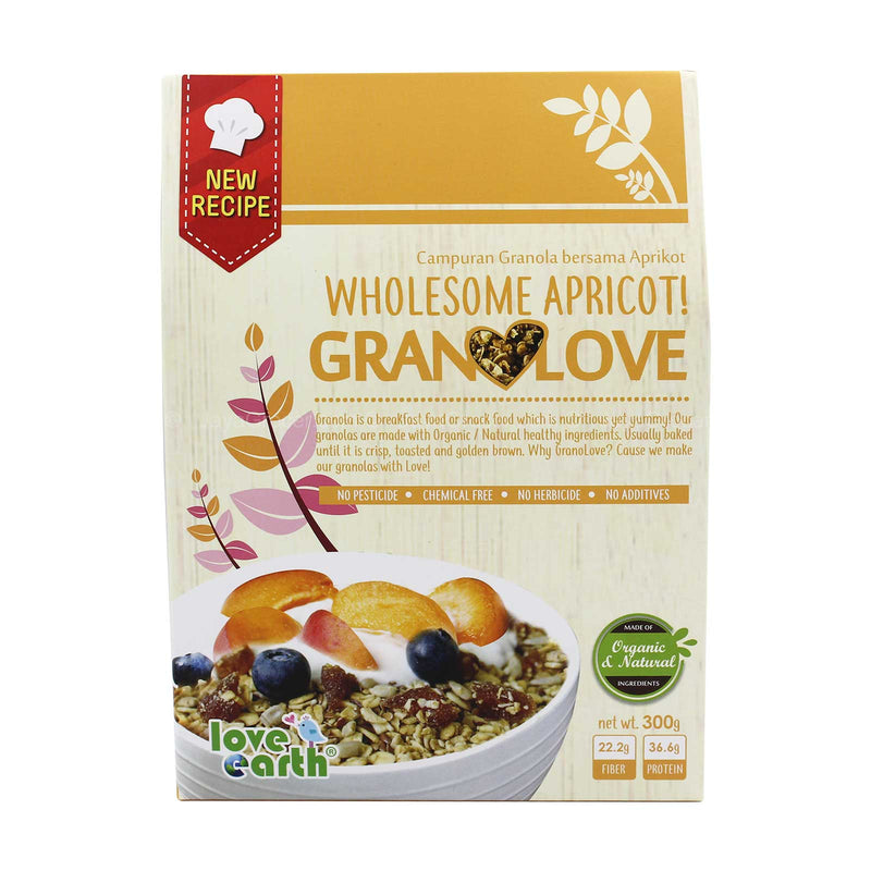 Love Earth Wholesome Apricot Granolove 300g
