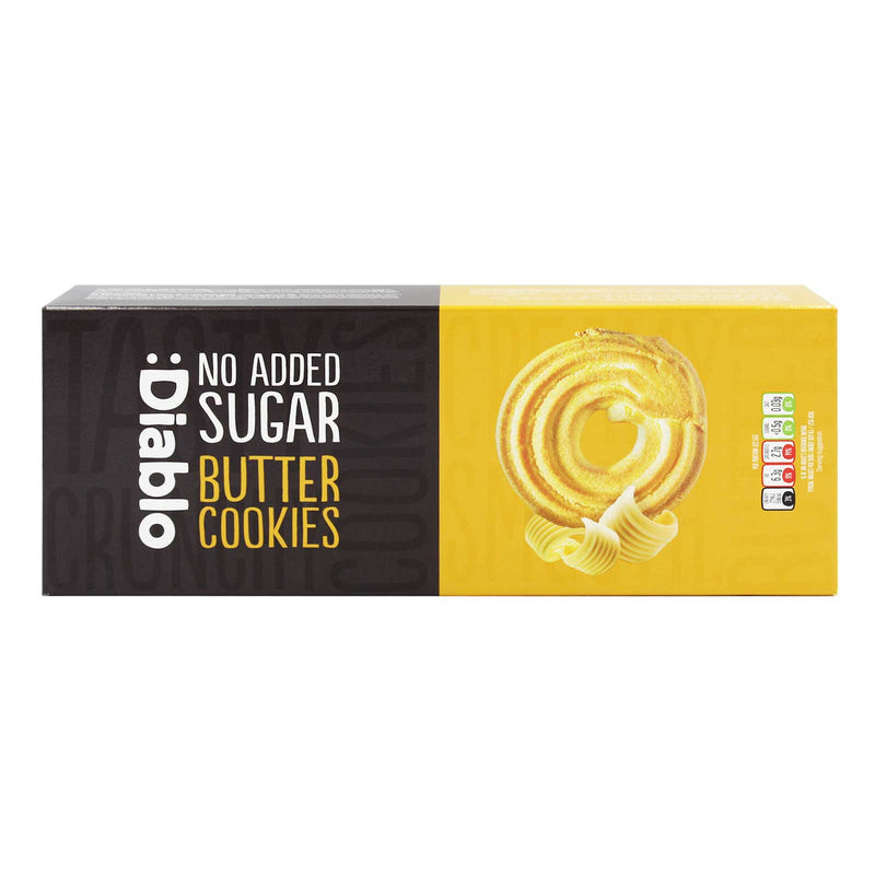 Diablo No Added Sugar Butter Cookies 135g
