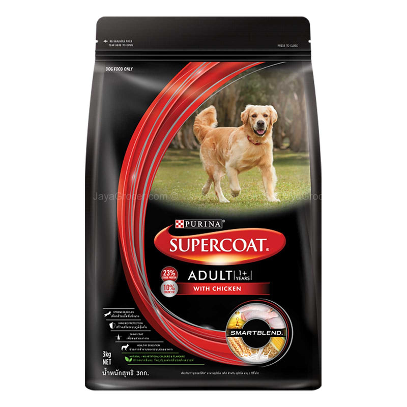 Purina Supercoat with Chicken Dog Food For Adult 3kg