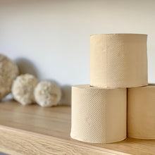 Load image into Gallery viewer, unbleached sustainable eco bamboo toilet paper hypoallergenic