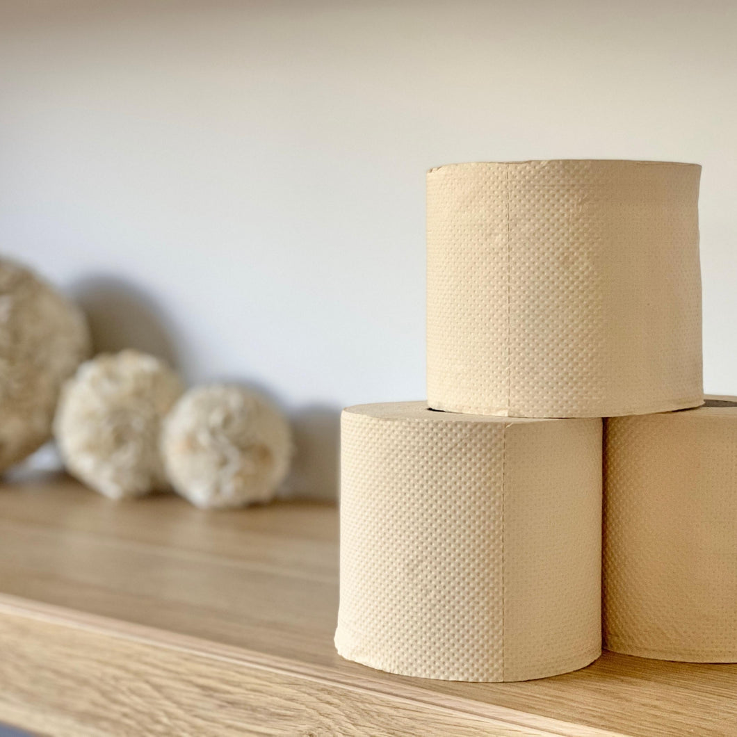 unbleached sustainable eco bamboo toilet paper hypoallergenic