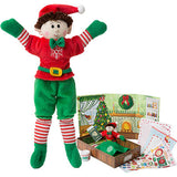 Boy Elf (Brown Hair) & Elf Book Set