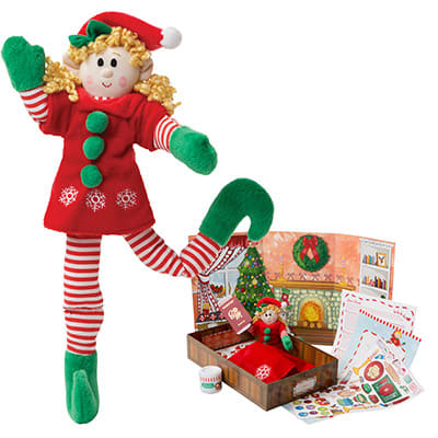 Girl Elf (Blonde Hair) & Elf Book Set