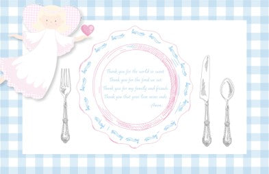 Guardian Angel Placemat - Girl
