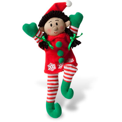 Girl Pocket Elf (Black Hair / Medium Skin Tone