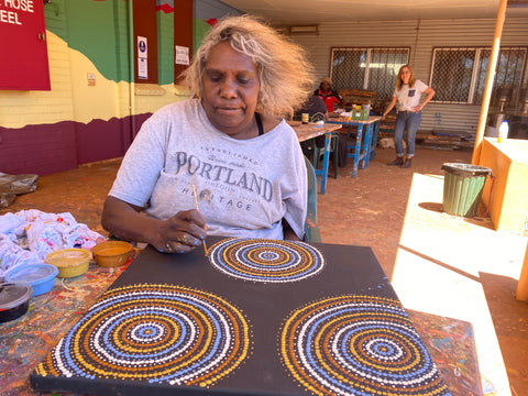 Masx Tech collaboration with the Warlu Aboriginal Artists - Jukurrpa (Dream-Time) Collection of Face Masks