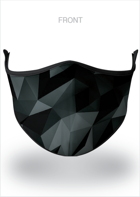 Masx Black Crystal Reusable Face Mask