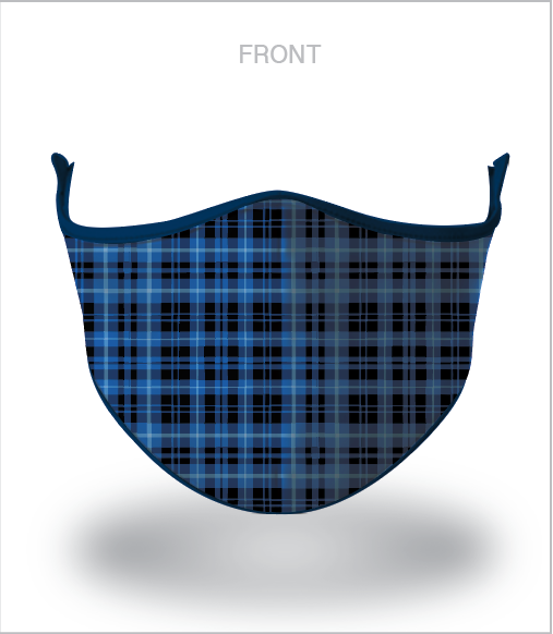 Masx Blue Tartan Reusable Face Mask