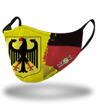 Masx Tech German Flag Paint Reusable Face Mask