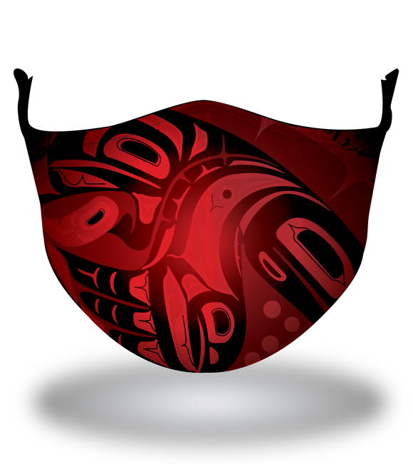Masx Haida Art Fire Reusable Face Mask