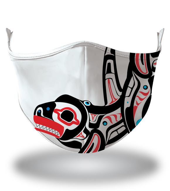 Masx Haida Art Fish Reusable Face Mask