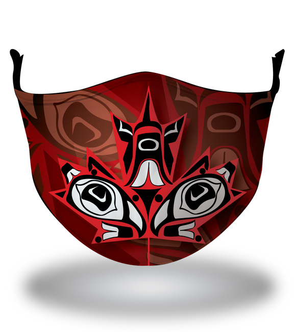 Masx Haida Art Maple Reusable Face Mask
