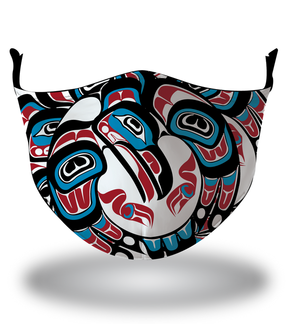 Masx Haida Art Totem Reusable Face Mask