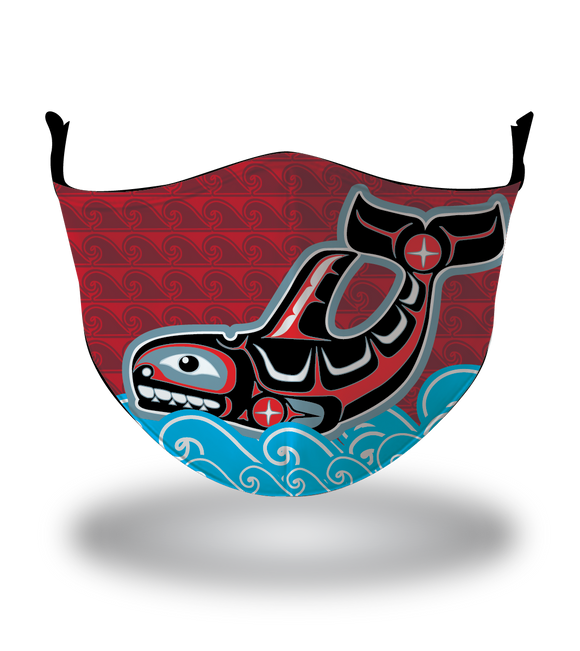 Masx Haida Whale Reusable Face Mask