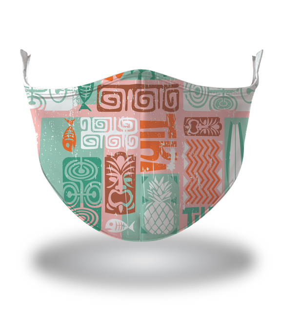 Masx Tech Tiki Pink Reusable Face Mask