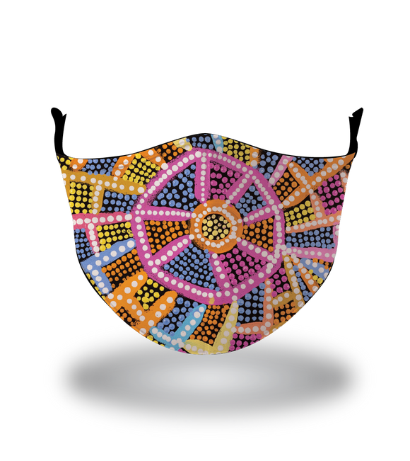 Masx Nampijinpa Reusable Face Mask -  Jukurrpa Collection
