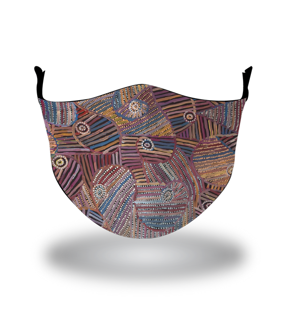 Masx Napangardi Ngalyipi Reusable Face Mask -  Jukurrpa Collection