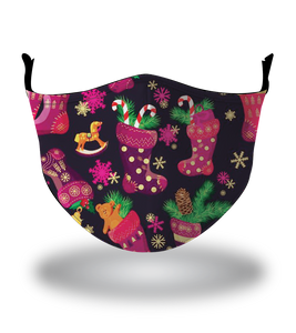 Masx Christmas Stocking Reusable Face Mask - Christmas Collection