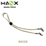 Masx Face Mask Accessories - Beige Lanyard