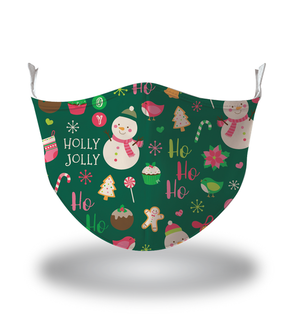 Masx Holly Jolly Reusable Face Mask - Christmas Collection