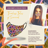 Masx Jukurrpa Collection - Nampijinpa Aboriginal Face Mask