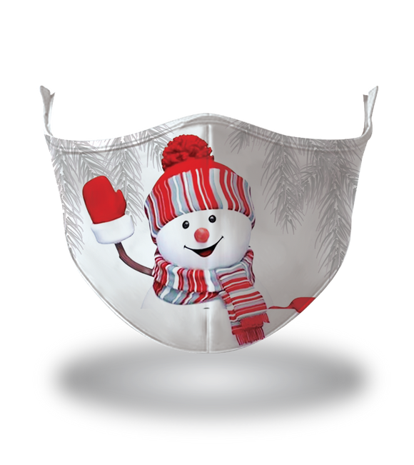 Masx Little Frosty Reusable Face Mask - Christmas Collection