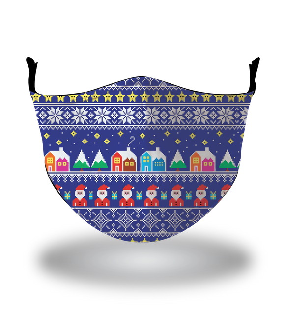Masx Christmas Village Reusable Face Mask - Christmas Collection