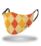 Masx Orange Argyle Reusable Face Mask
