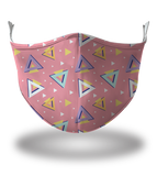 Masx Pink Triangles Reusable Face Mask