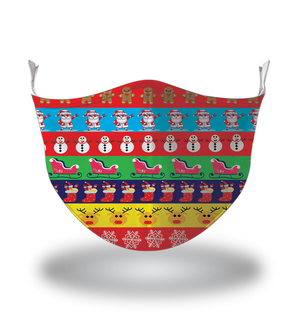 Masx Psychedelic Christmas Reusable Face Mask - Christmas Collection