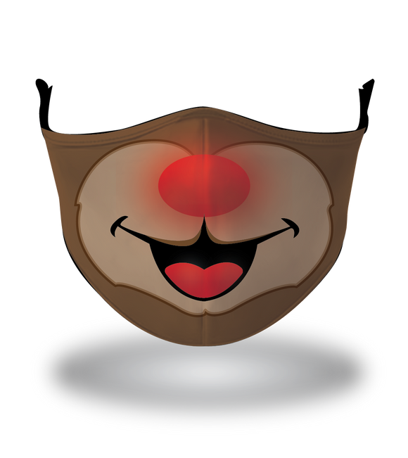 Masx Rudolph Reusable Face Mask - Christmas Collection
