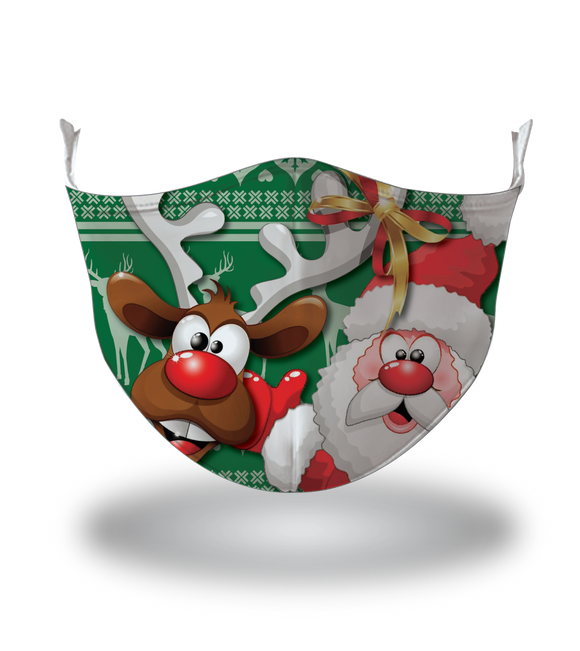 Masx Rudy & Santa Reusable Face Mask - Christmas Collection