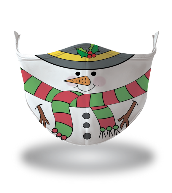 Masx Snowman Kids Reusable Face Mask - Christmas Collection