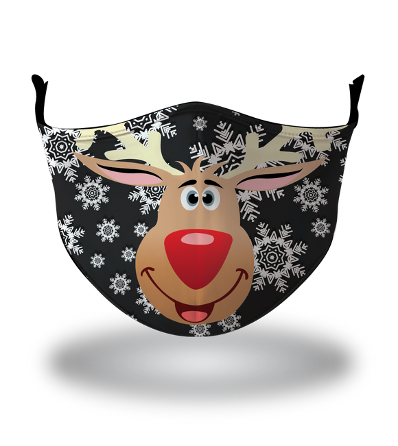 Masx Snowy Rudolph Black Reusable - Christmas Collection
