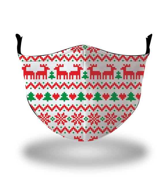 Masx Christmas Sweater Reusable Face Mask - Christmas Collection
