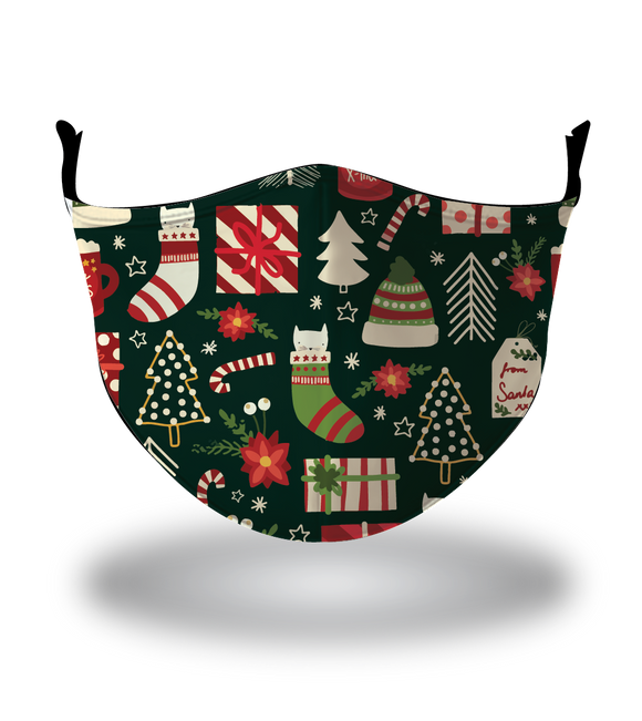 Masx Under the Christmas Tree Reusable Face Mask - Christmas Collection