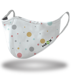 Masx White Polka Reusable Face Mask