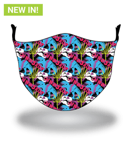 Masx Neon Dinosaur Reusable Face Masks